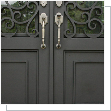 Iron Door Refinishing